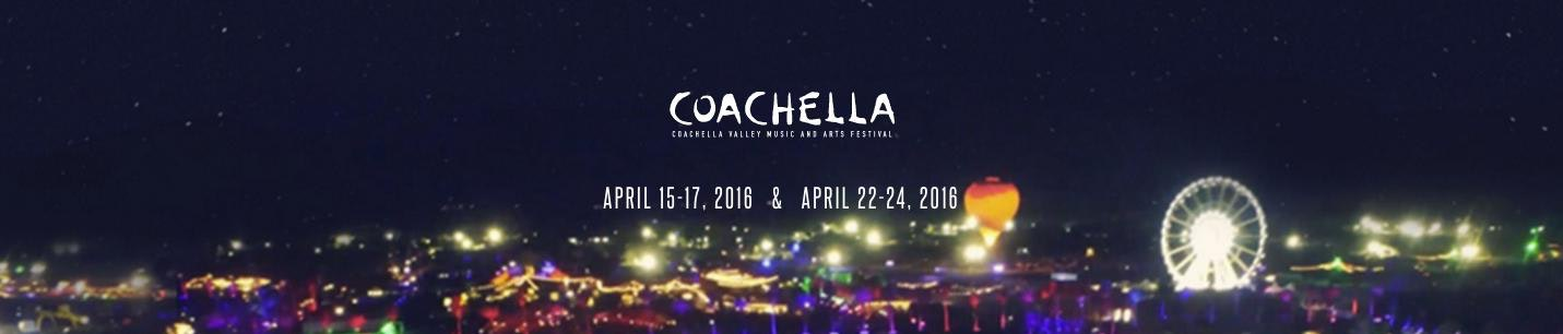 coachella logo and website header