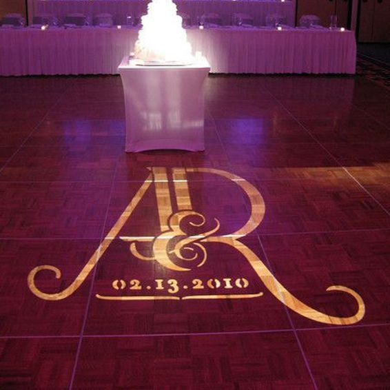 customized wedding lights for dance floor