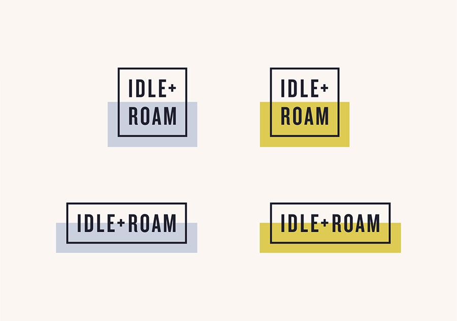 Idle + Roam logo design