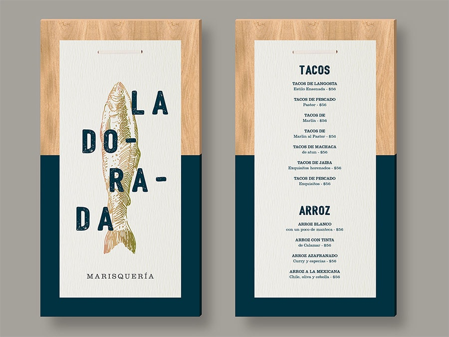color block menu design