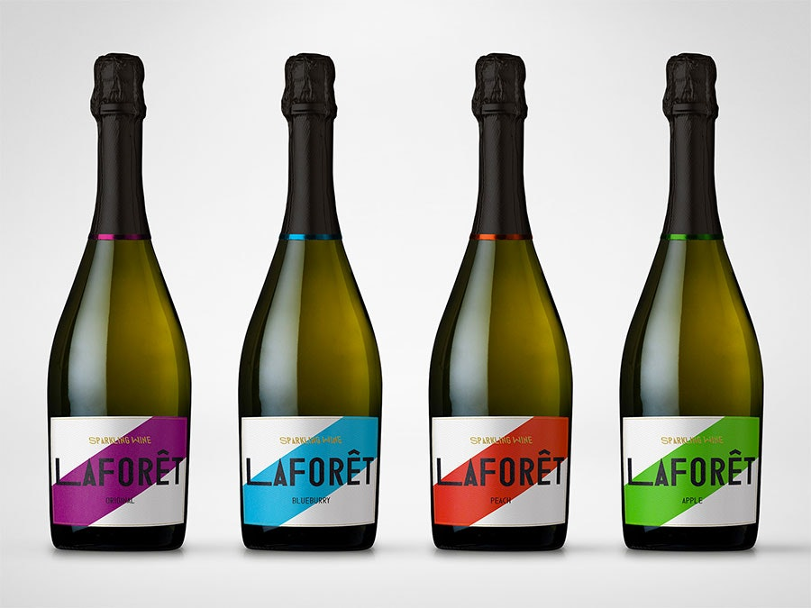 Sparkling Wine color block Label