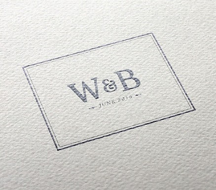 simple modern wedding logo