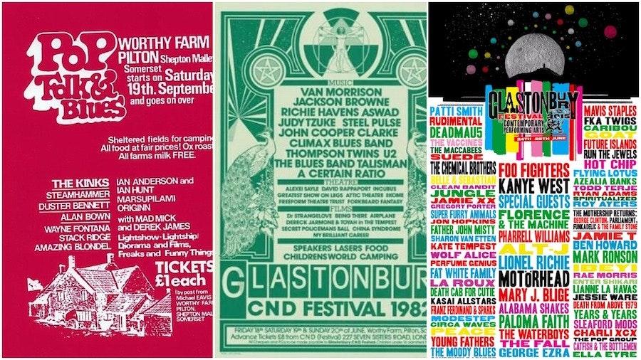 Glastonbury Festival posters