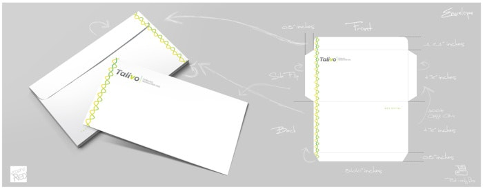 シンプルな封筒デザイン