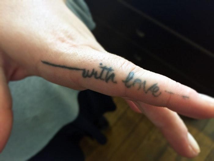 タトゥーのメッセージ性