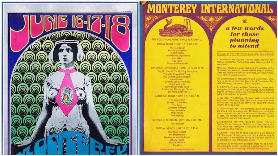 Monterey Pop Festival posters