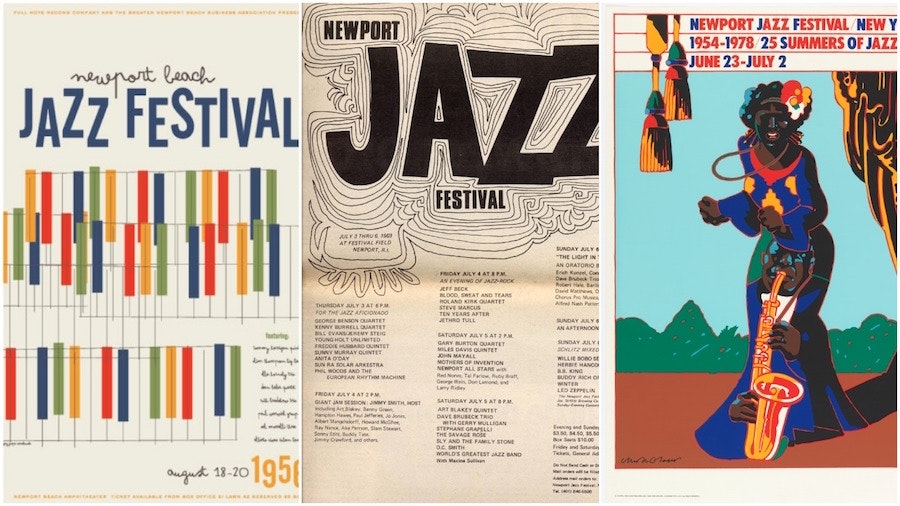 Newport Jazz festival posters