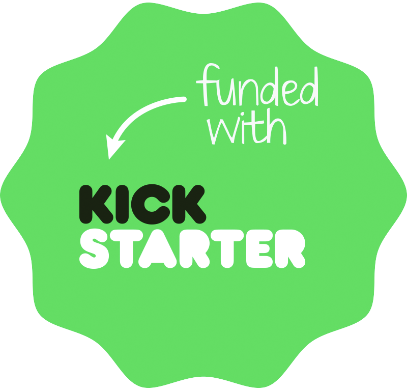 Funded with kickstarter badge