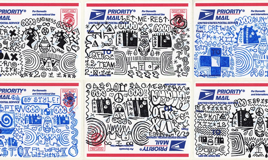Mail sticker art