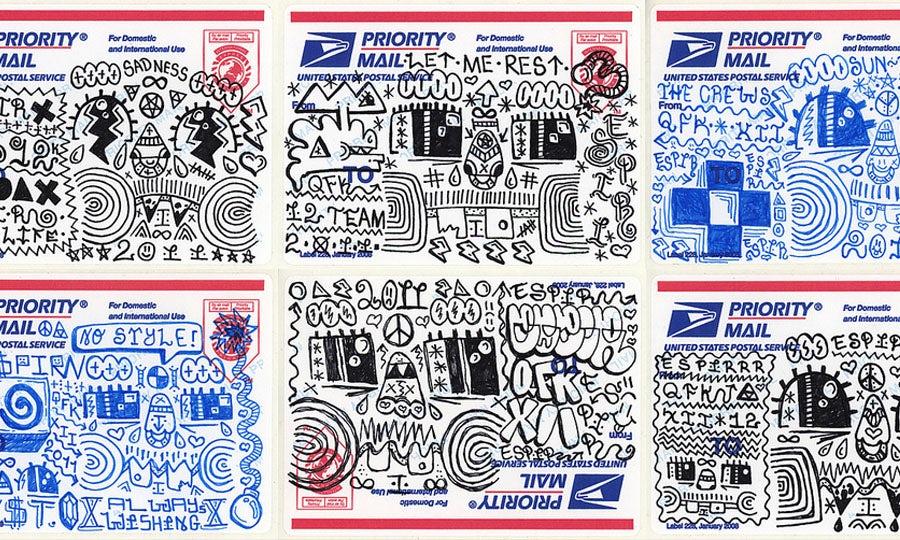 Mail sticker art