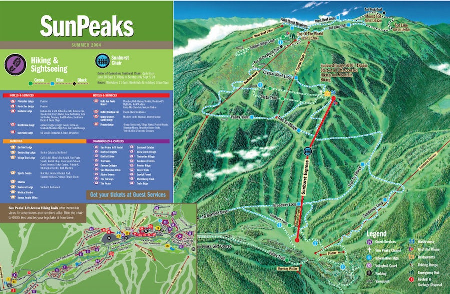 hiking trail map