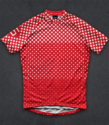 polka dot cycling jersey design