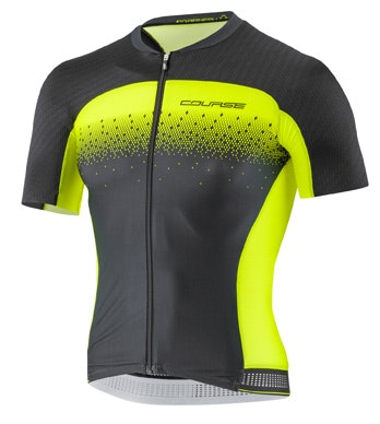 neon and black cycling jersey design
