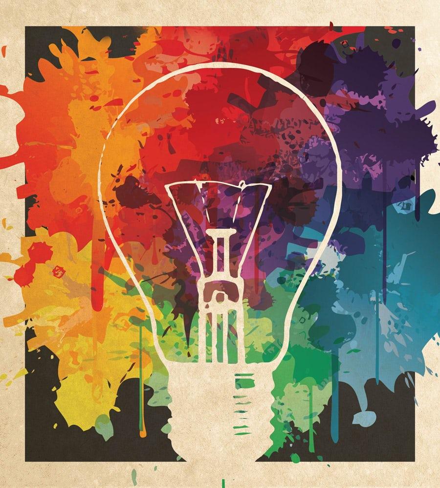 ampoule colorée
