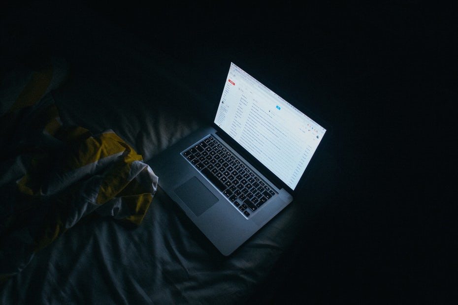computer in bed