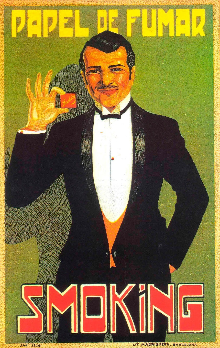 Mr Smoking vintage poster