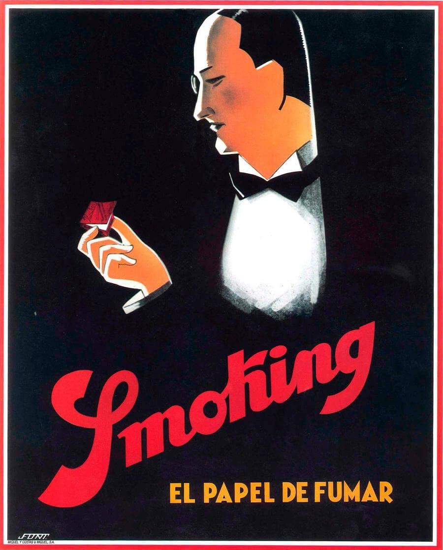Mr Smoking vintage poster