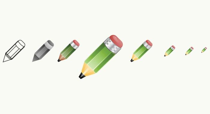 アイコンデザインチュートリアル:鉛筆アイコンを描く