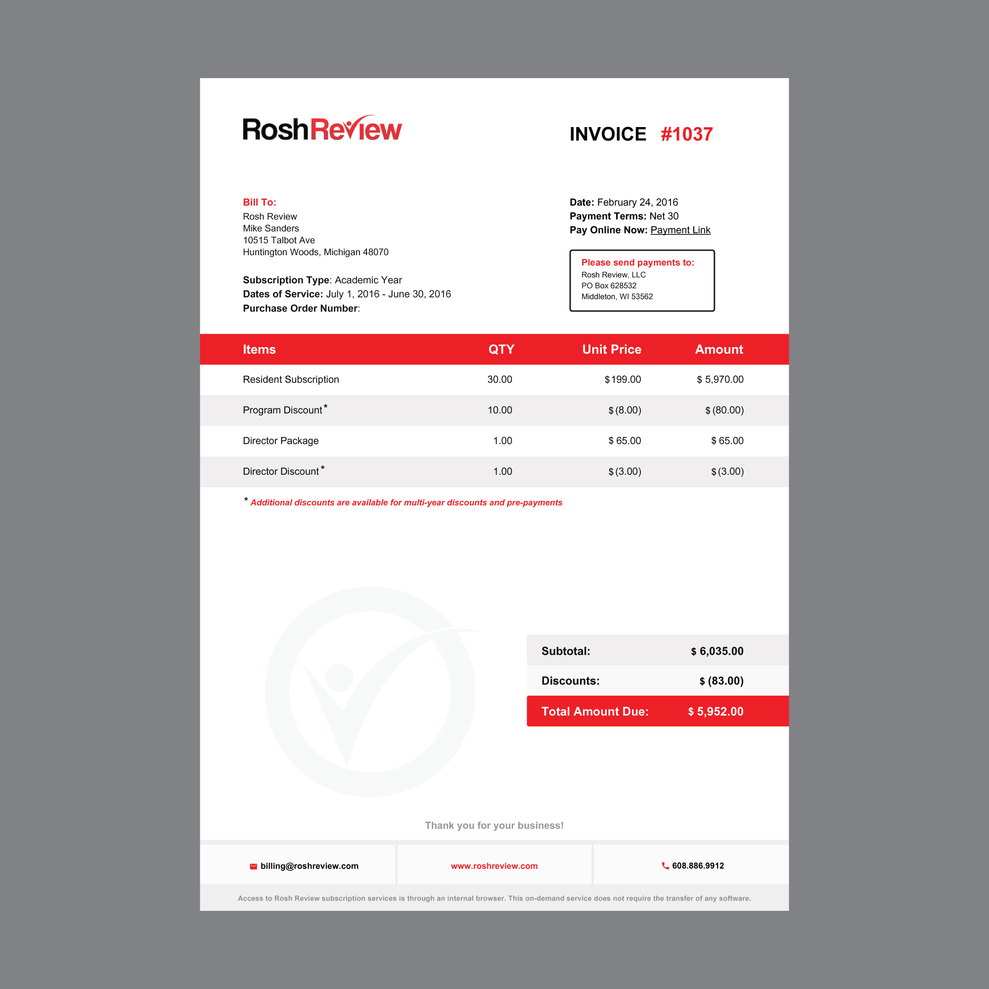 invoice design 99designs