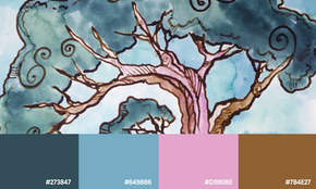 Natural color palettes inspired by handmade inks
