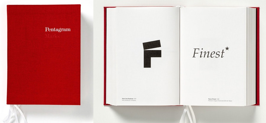 design books: pentagram: marks