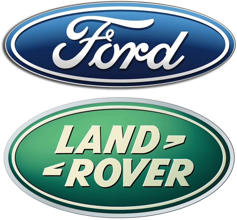 ford and land rover oval logos