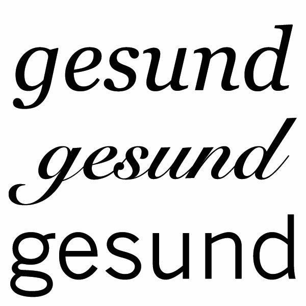 gesund typografie