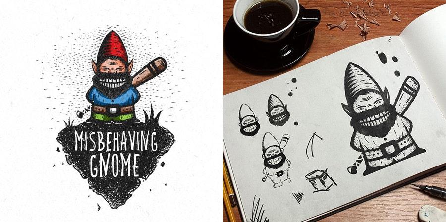 misbehaving gnome by Dusan Klepic