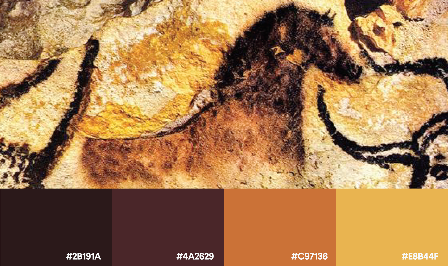 Cave painting color palette