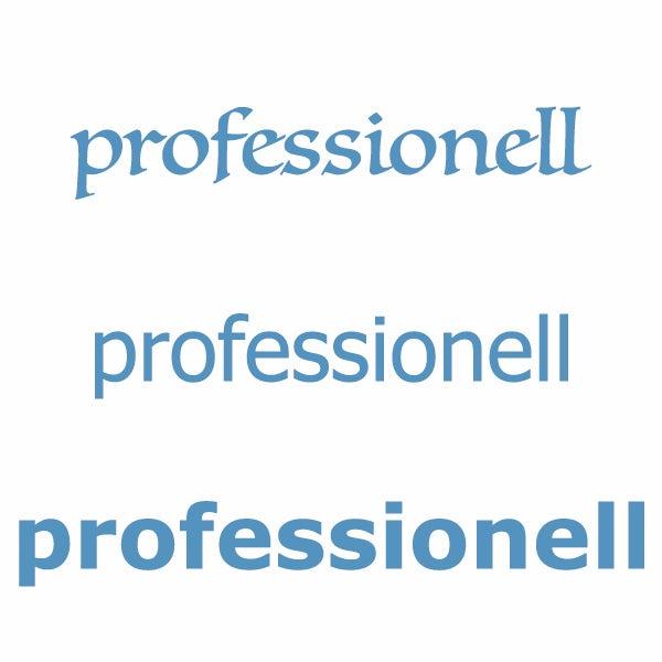 professionell typografie