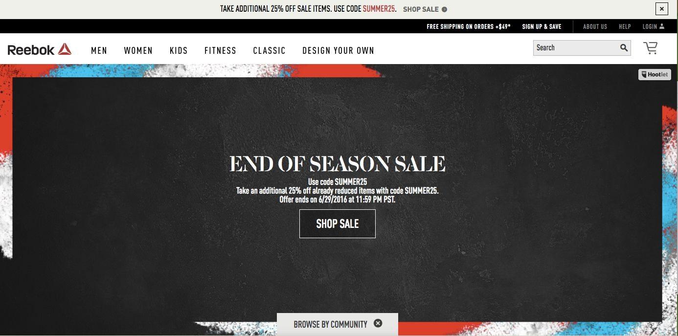 reebok website sale