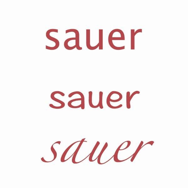 sauer typografie