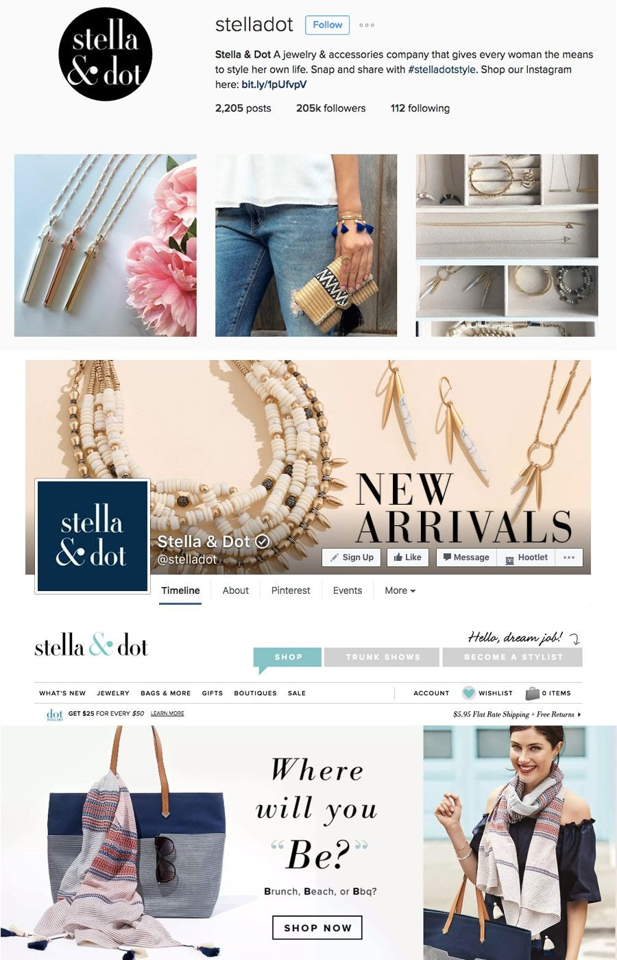 stella & dot design aesthetic