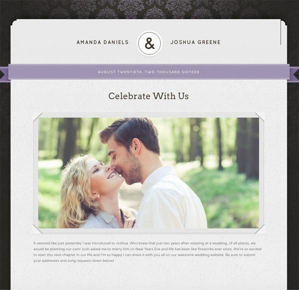 The Knot Wedding Websites.Wedding Website Ideas How To Create The Perfect Virtual Space For