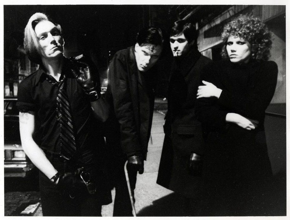 the cramps outside CBGBs