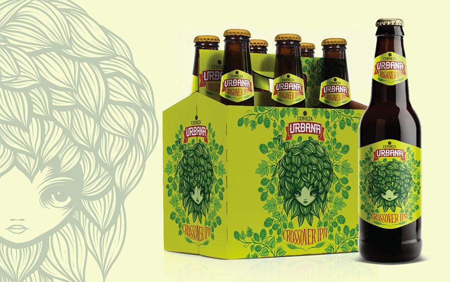 cerveza urbana beer packaging