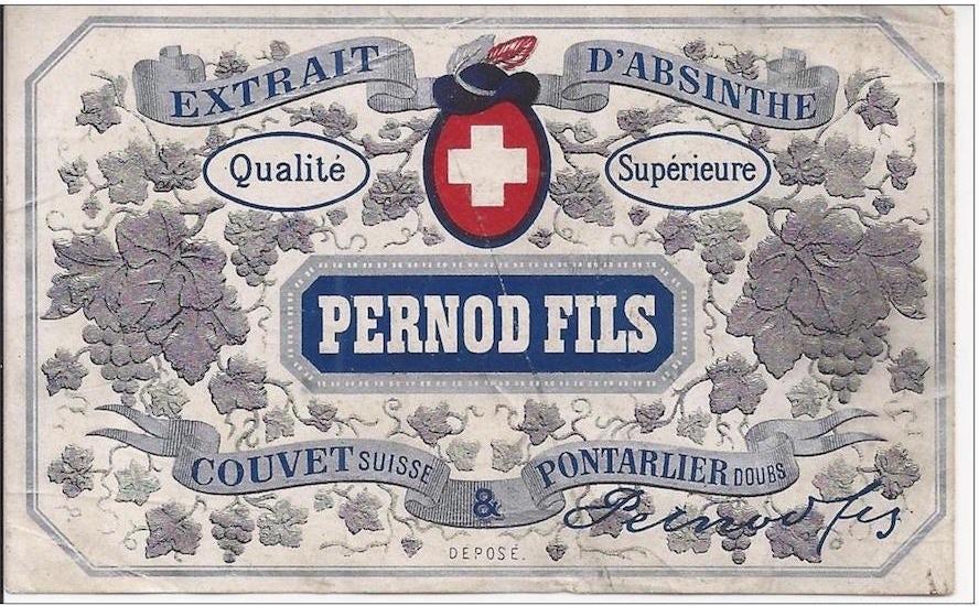 pernod liqueur label