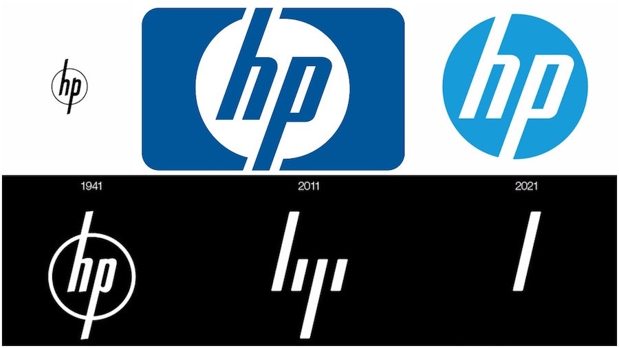 tech branding: HP logo evolution