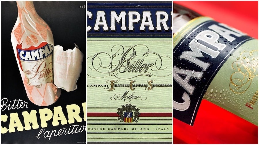 campari liqueur labels
