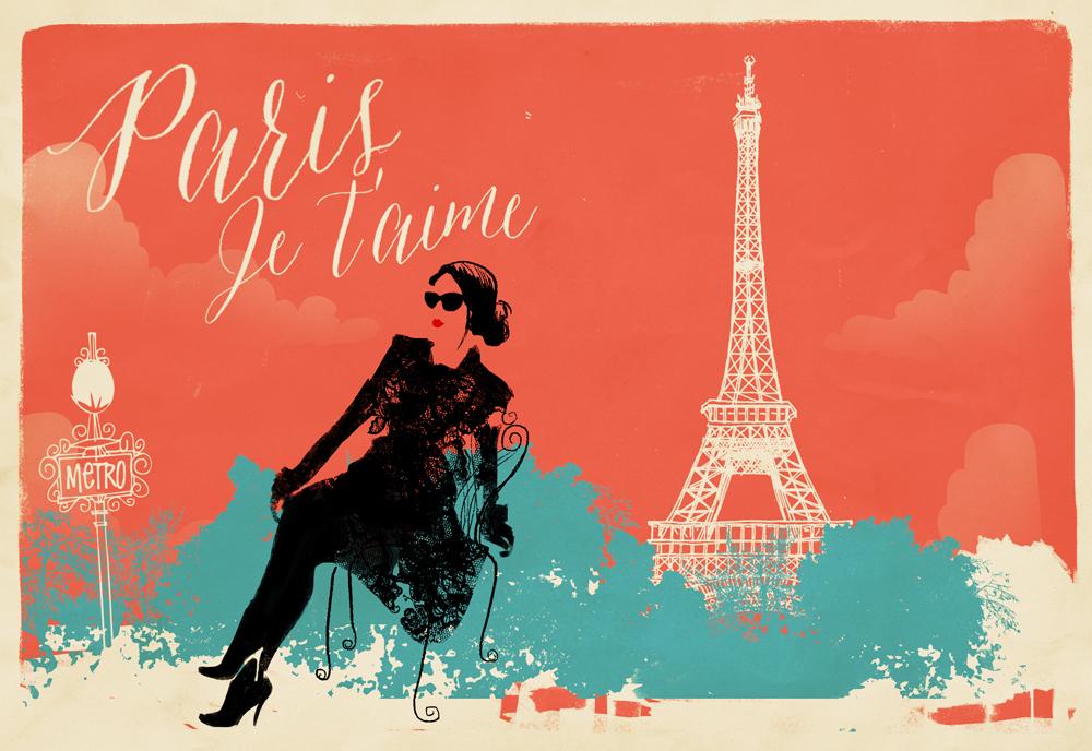fashion paris eiffel tower ilustreishon