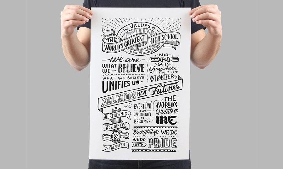 font selection helps establish visual hierarchy