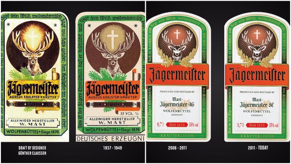jagermeister liqueur labels