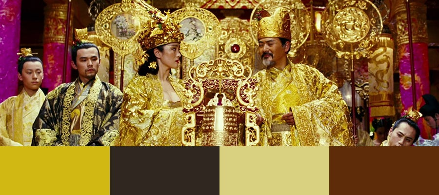 10 color palettes from famous movies 99designs curse of the golden flower 2006 mightylinksfo