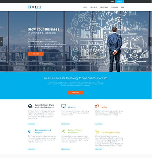 omno website by ejump media