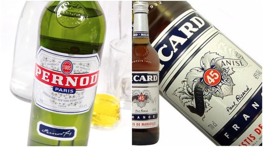 pernod liqueur labels