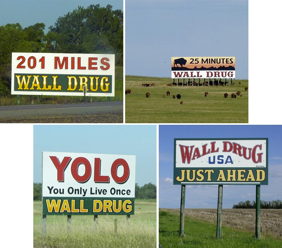 wall drug billboards