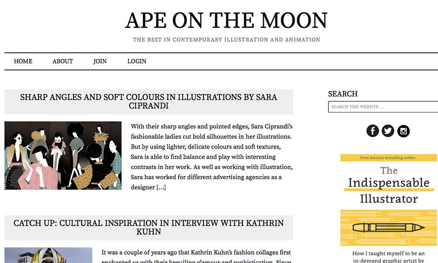 ape on the moon illustration and animation blog