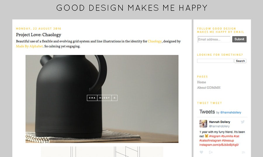 good design makes me happy design blog