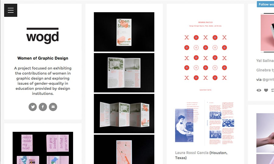women of graphic design blog