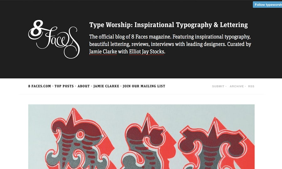 type worship blog